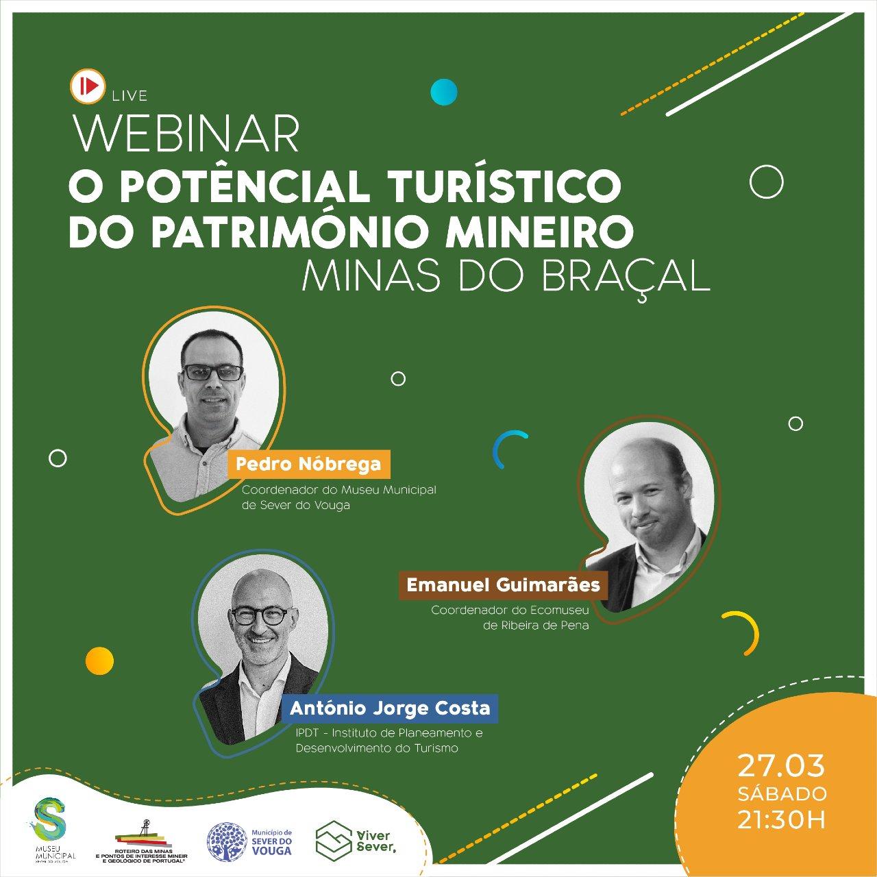 """Webinar deu o """"pontapé de saída"""" da adesão ao Roteiro das Minas e Pontos de Interesse Mineiro e Geológico de Portugal"""